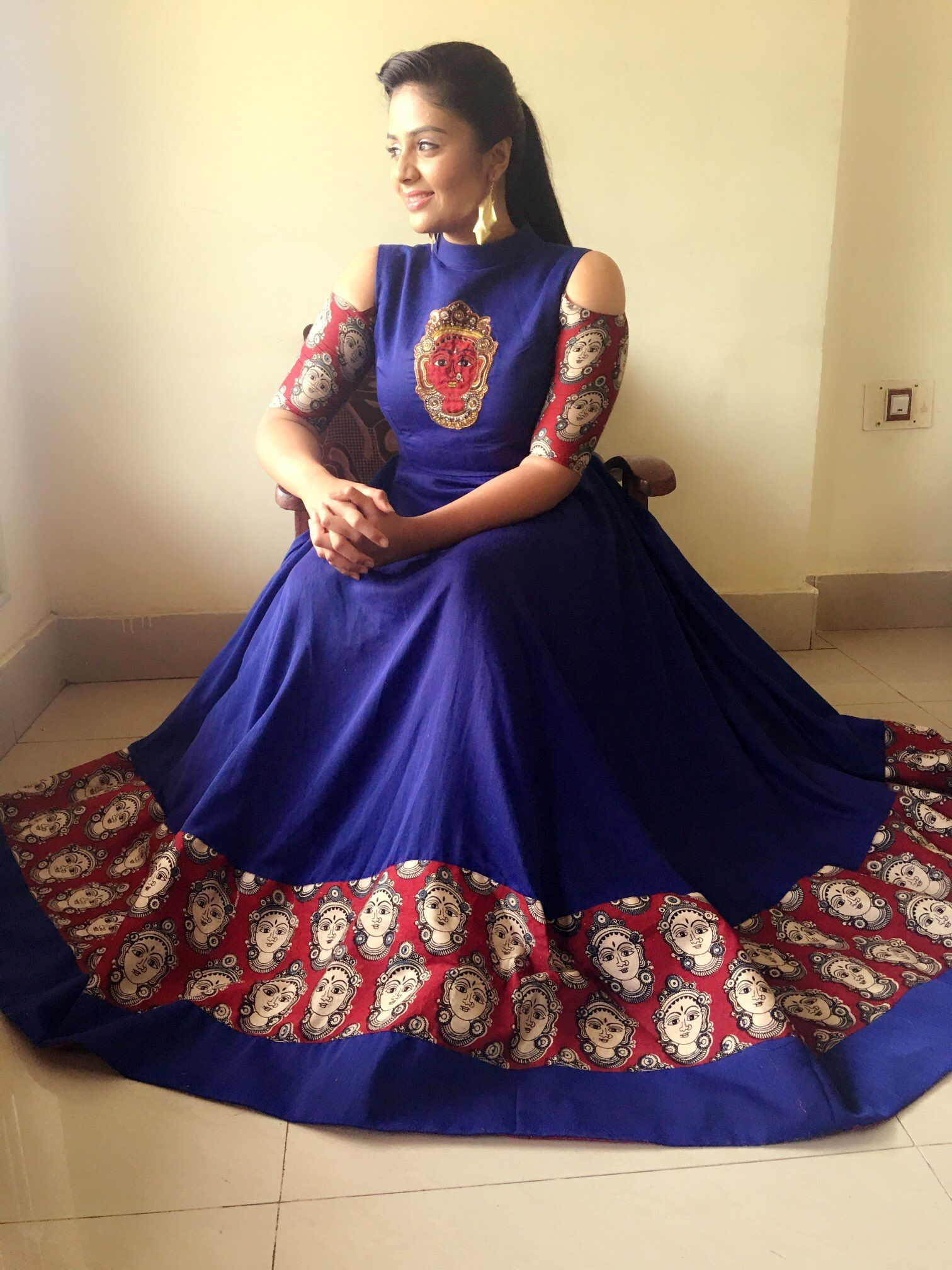 Pin By Rohini On Indian Attire Kalamkari Dresses Dress Patterns Clothes For Women