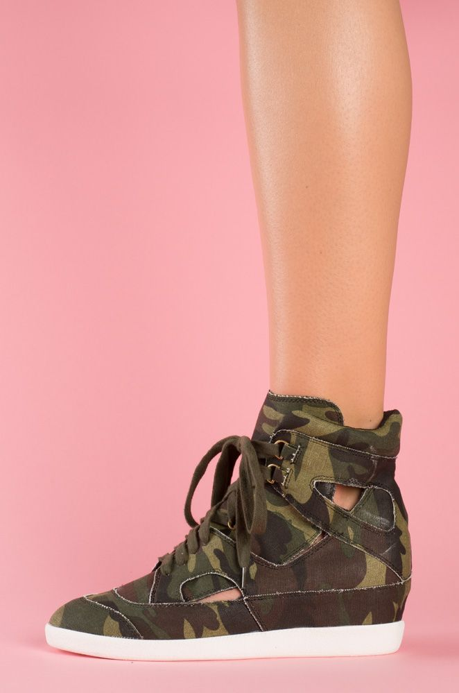 562e26604fe0 Camo Wedge Sneakers had for 3 months but I cannot for the life of me put an  outfit together