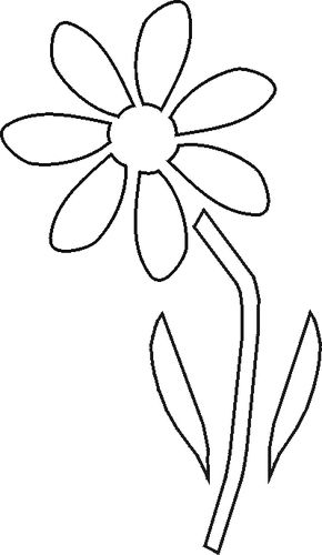 Universal image within free printable flower stencils
