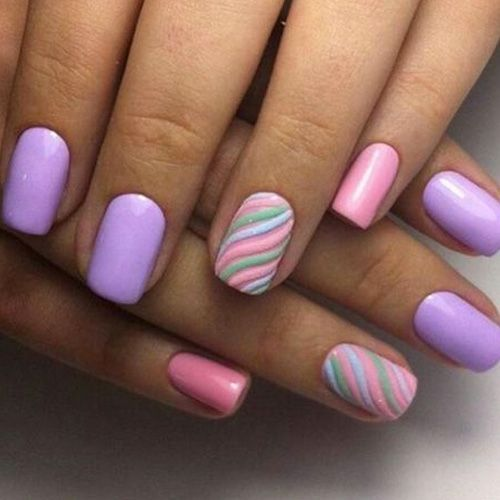 Fun Spring Easter Pastel Nail Design Glam It Up Nails