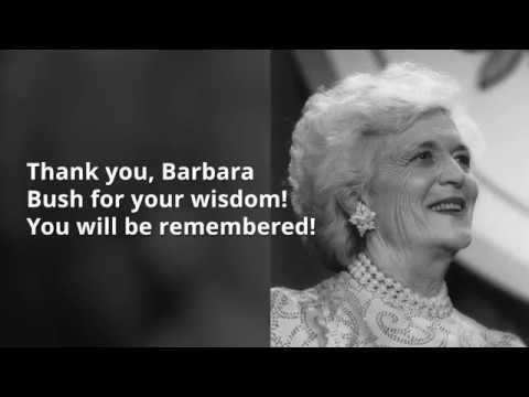 Barbara Bush Quotes (With images) Bush quotes, Barbara
