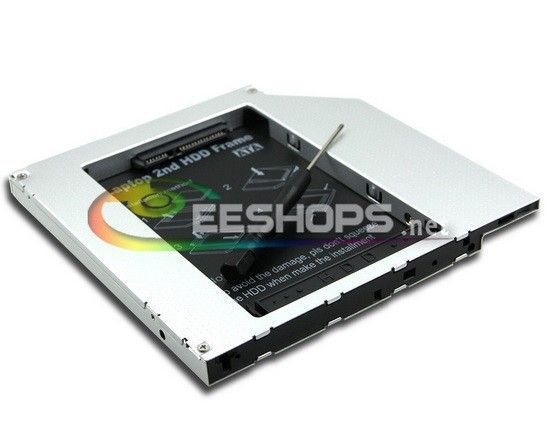 6b00ce93e87f Laptop 2nd HDD SSD Caddy Second Hard Disk Drive Enclosure DVD ...