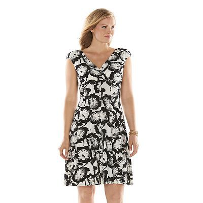 Chaps Printed Empire Dress Womens Plus Size Just Got This From