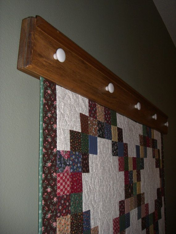 quilt holders for the wall items similar to wall hanging on wall hanger id=44274