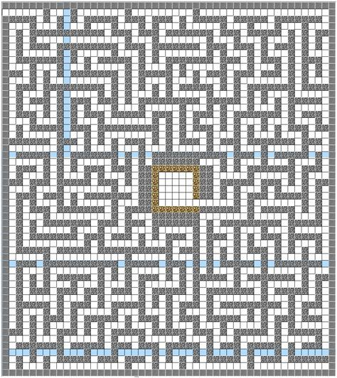This Is A Picture Of The Maze I Used Minecraft Structure