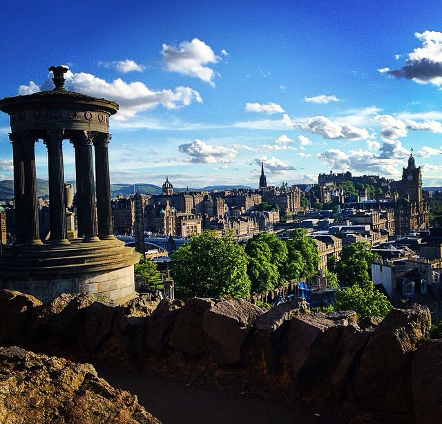 Moved into the city. Calton hill. Edinburgh