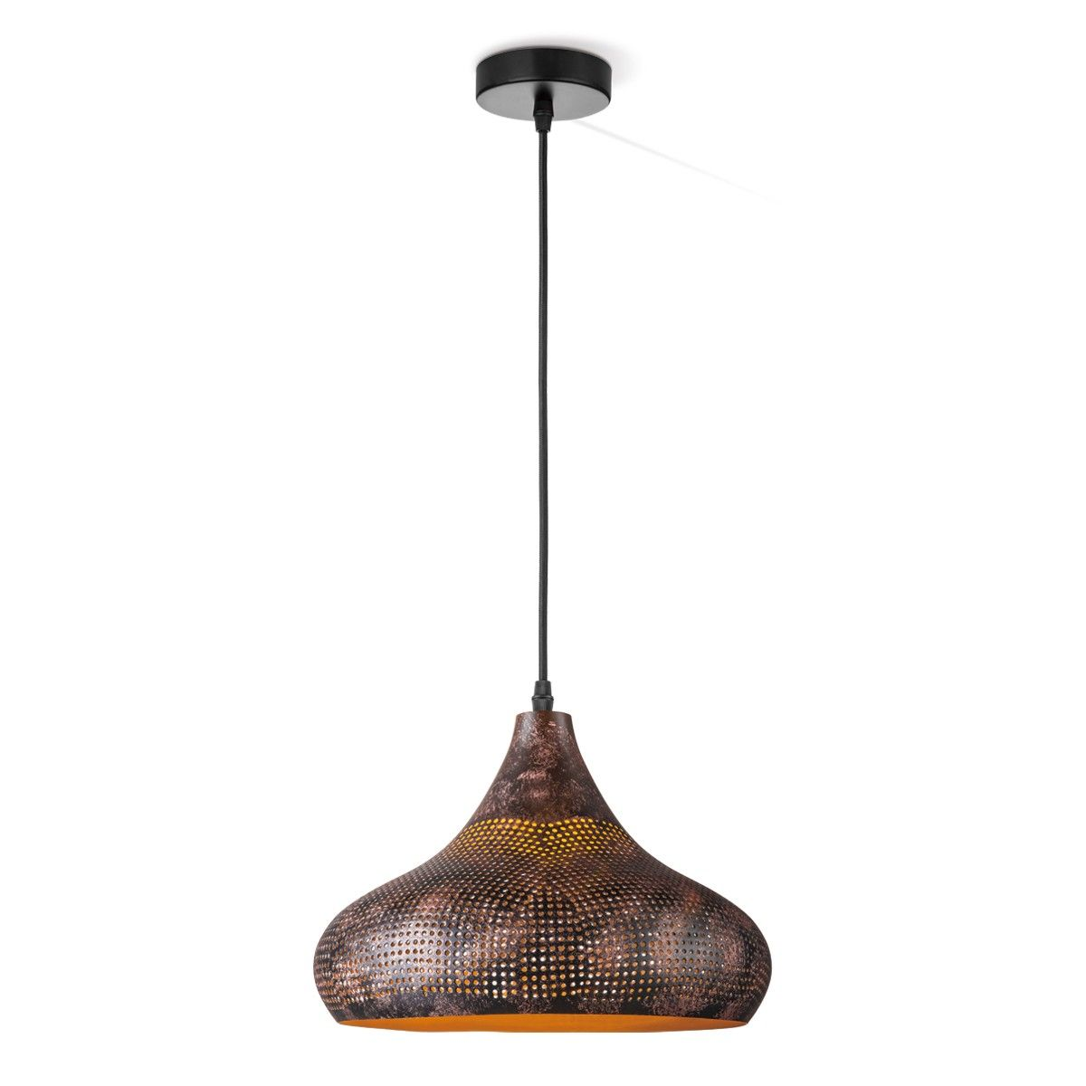 hanglamp rusty B Ø 30 cm bruin Bruin | Besselink licht | Lampen ...