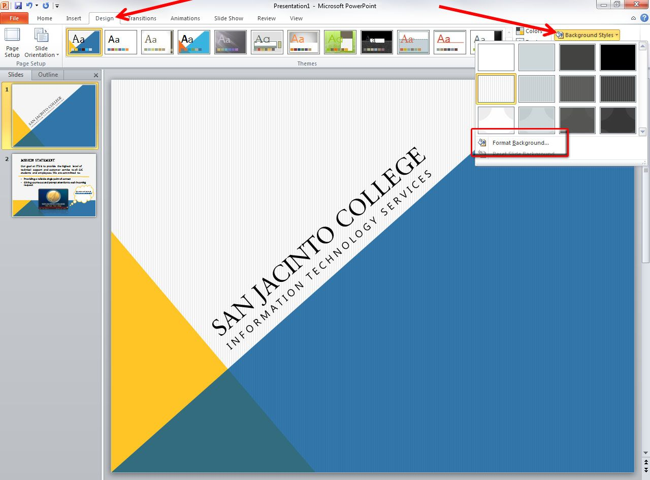 how to apply template in powerpoint 2010