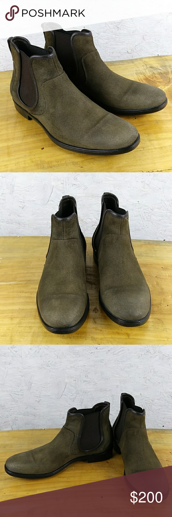 91a10e24503ed John Varvatos men's boots Great condition John vavatos Chelsea boots with  elasticized gore on sides leather upper rubber sole Espresso color approx  Slip-on ...