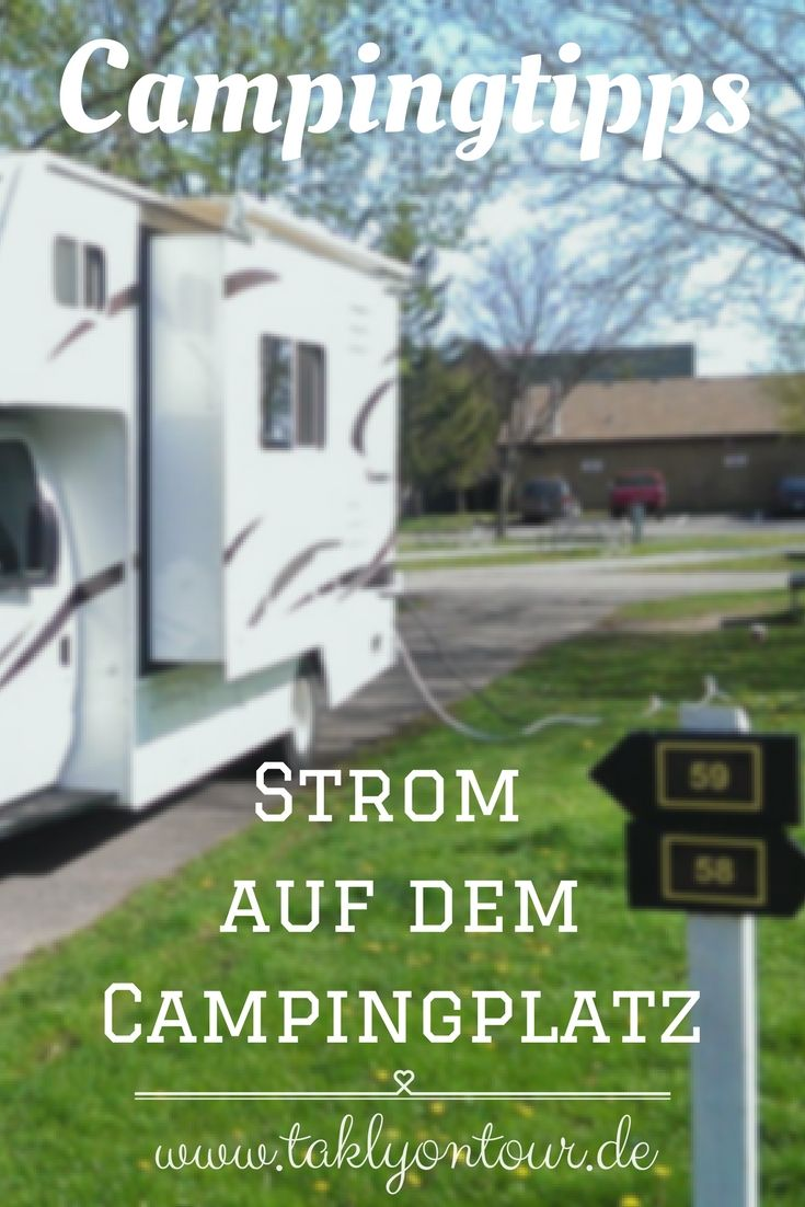 strom auf dem campingplatz und beim camping camping. Black Bedroom Furniture Sets. Home Design Ideas