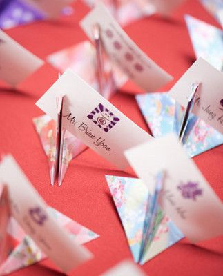 origami swan escort cards art pinterest