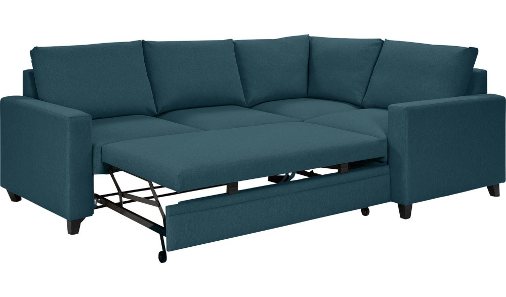 Buy Argos Home Seattle Right Corner Fabric Sofa Bed Blue
