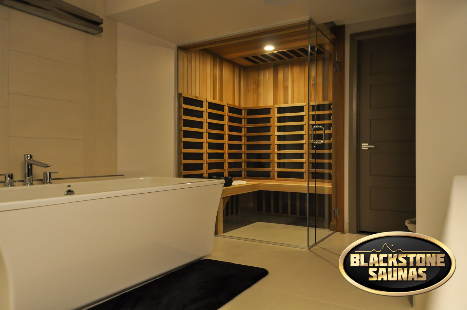Stunning Modern Custom Glass Infrared Sauna That Was Built Into A Master Ensuite It Is A Piece Of Modern Design Home Infrared Sauna House Design Custom Homes