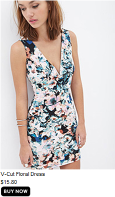 Supper cute v neck floral dress, great for date night.