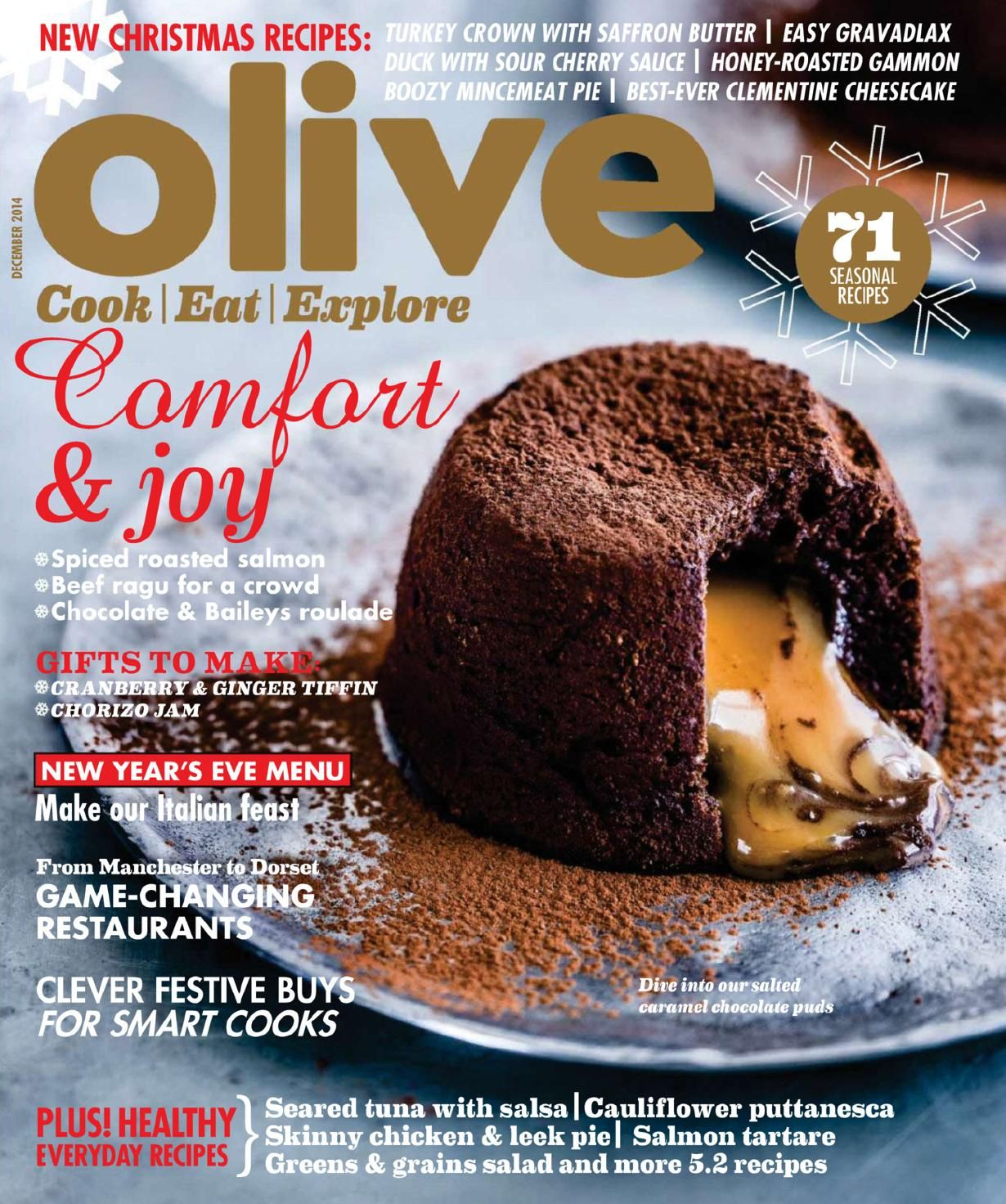 Olive Magazine December 2014 Food Food Magazine Food Magazines Cover