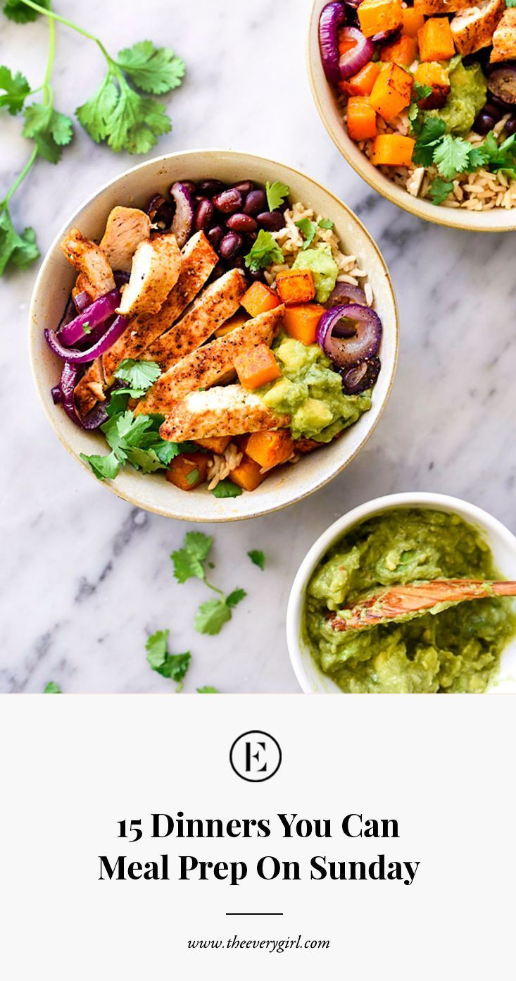 15 dinners to meal prep on Sunday