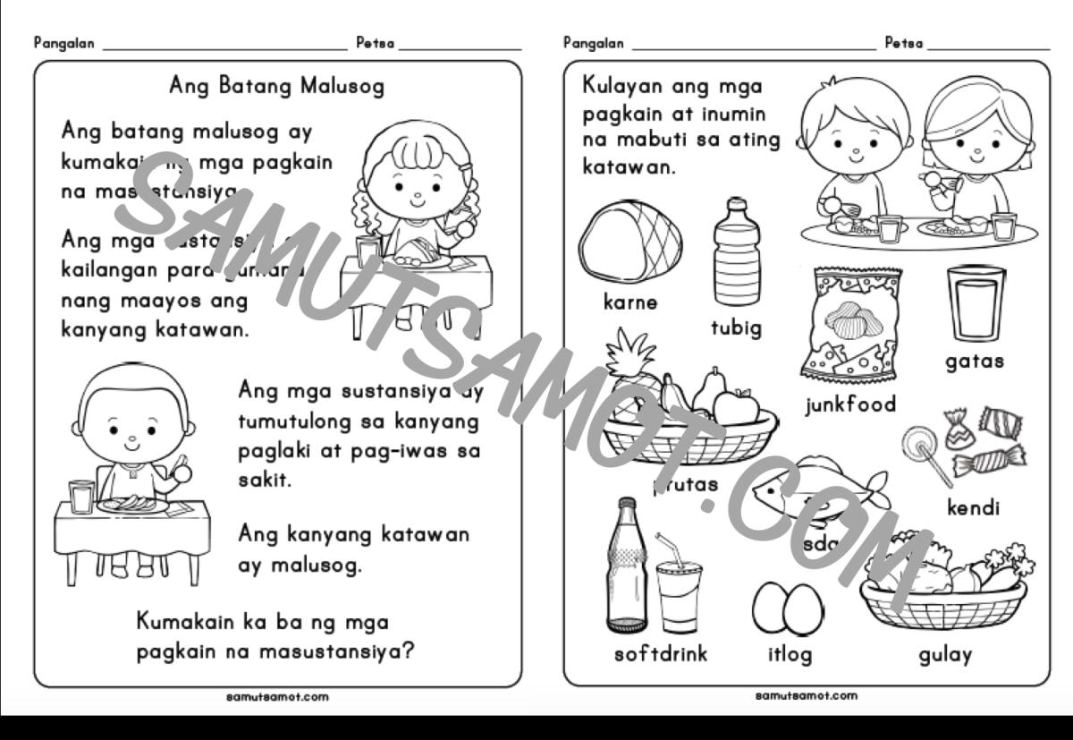 Free Printable Worksheets For Filipino Kids