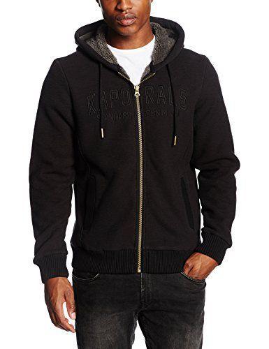 Kaporal Jilo, Sweat Shirt à Capuche Homme^Homme, Noir (Black