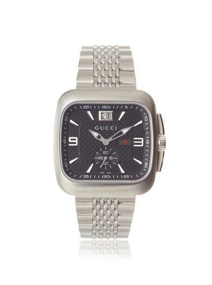 e8446b28a11 Gucci Men s YA131305 Coupé Black Bracelet Watch