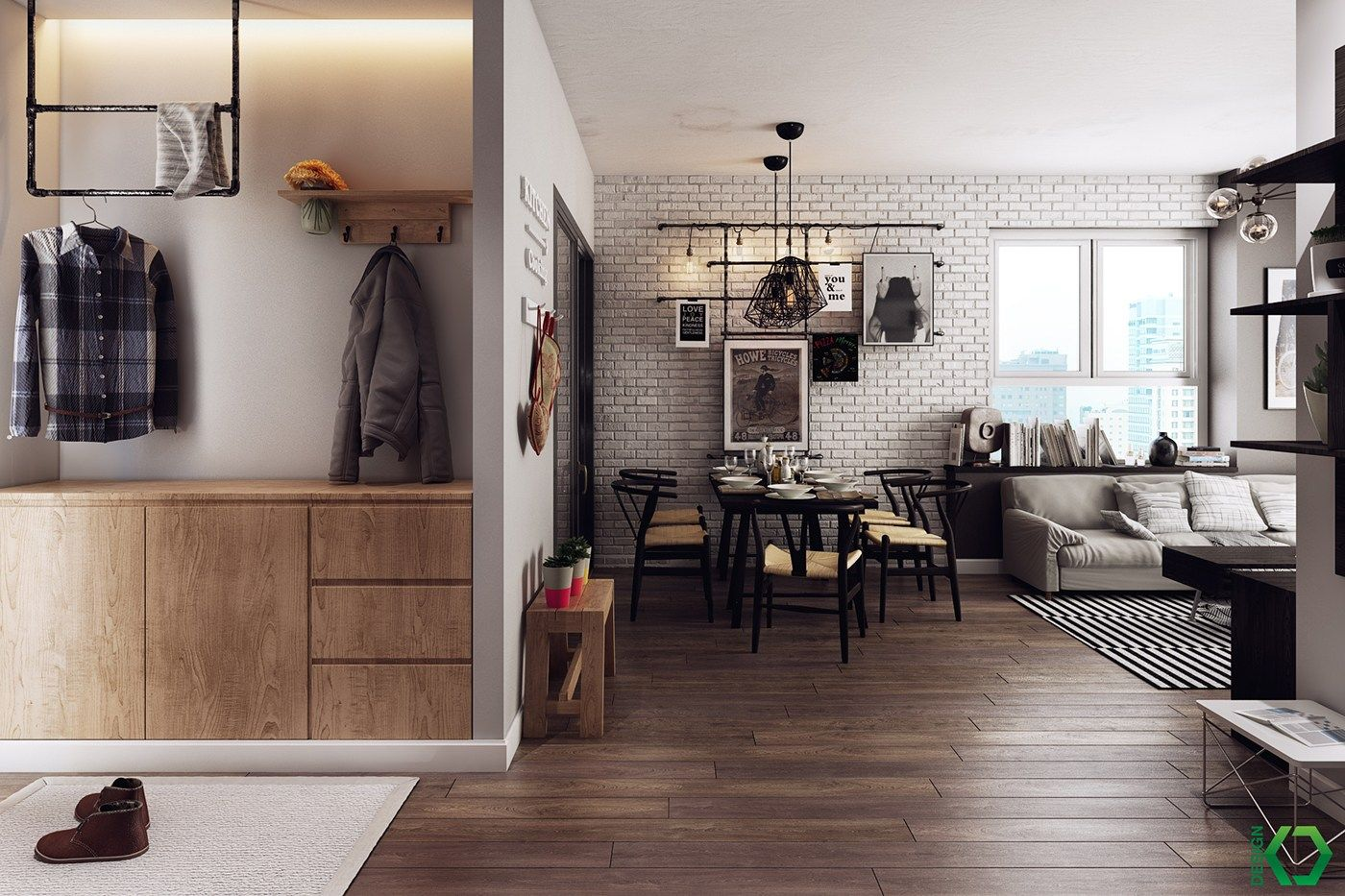 A Charming Nordic Apartment Interior Design by Koj Design Nordic