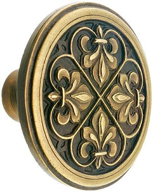 Fleur De Lis Cabinet 1 3 8 Diameter House Of Antique Hardware