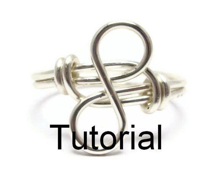 Infinity Ring Tutorial For Beginner Wrappers - Wire Wrapped Jewelry Tutorials for Beginners -... Infinity Ring Tutorial For Beginner Wrappers - Wire Wrapped Jewelry Tutorials for Beginners - How to Make Rings - DIY Rings,