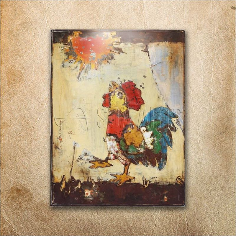 Funny Outdoor Rooster 3D Metal Wall Art, View Rooster metal art, SOA ...