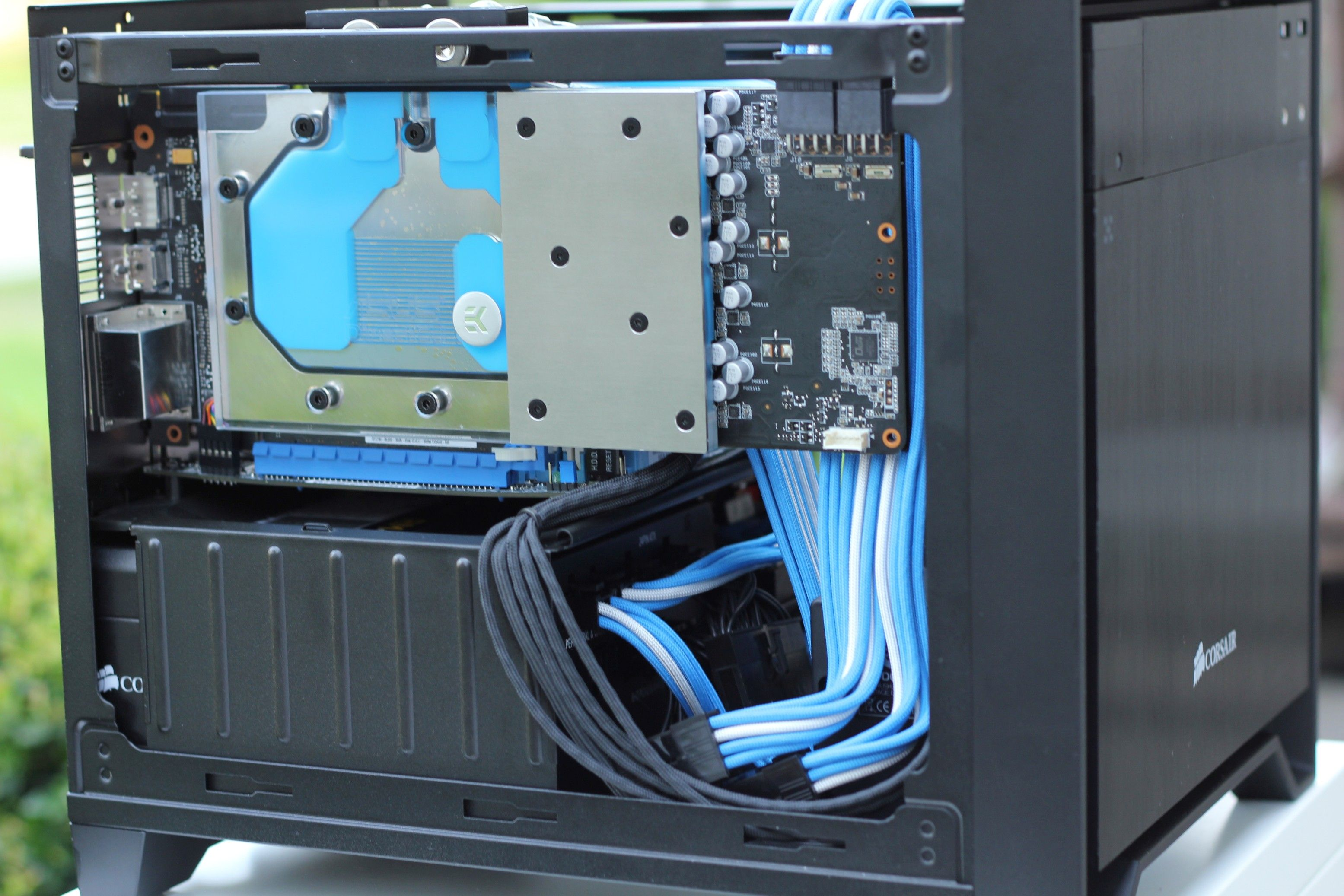 custom water cooled build corsair 250d water cooling builds