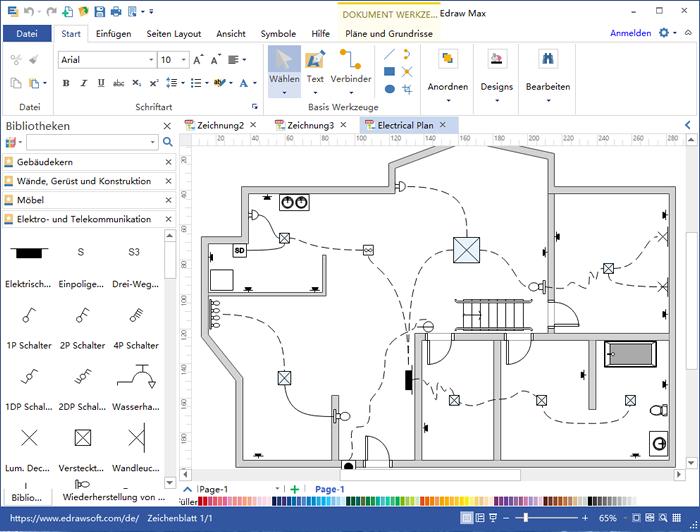 Erstellen des Haus-Stromlaufplans | Grundriss Baupläne | Pinterest ...