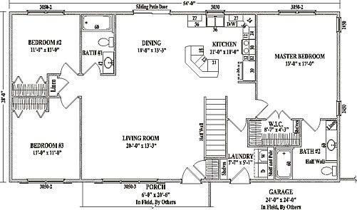 Ranch Floor Plans Open Concept Mankato Ii By Wardcraft Homes