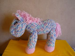 Tejiendo Sueños: Pony amigurumi crochet multicolor