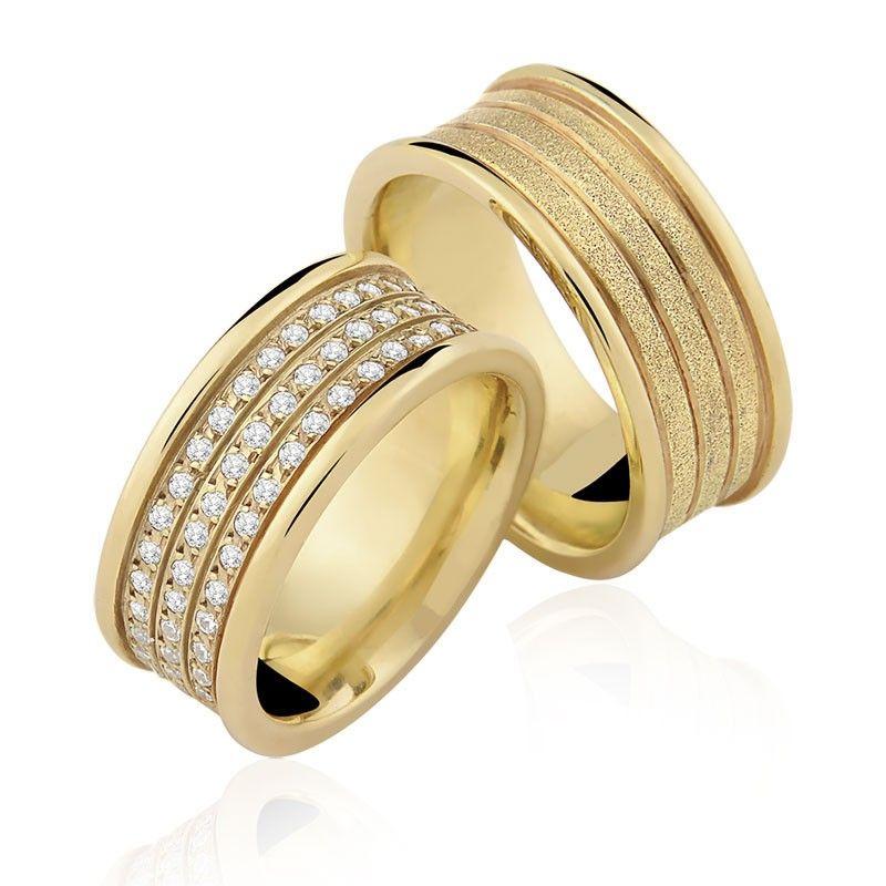 Alianças Quadradas Sergipe ♥ Casamento e Noivado em Ouro 18K ... 0edf24d0b5