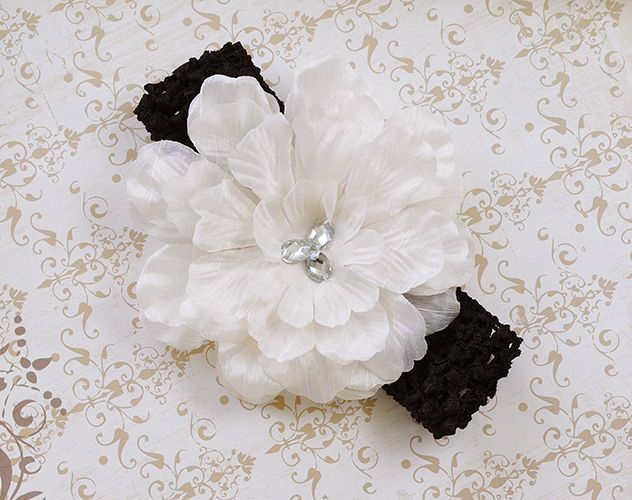 Cach Cach Ivory Bowtique Flower Headband for Girls $9.00