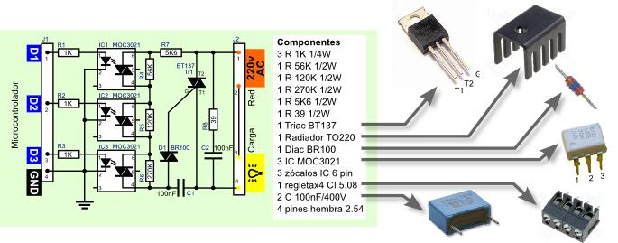 Txapuzas electrónicas: PaperDimmerPCB. Regulador de potencia por triac para microcontrolador (compatible con Arduino)