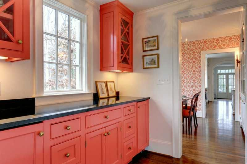 Pantry Idea Bold Color Not Pink Or Peach But What