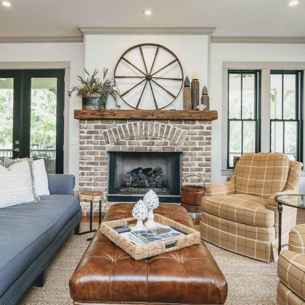 38 amazing country farmhouse living room decoration ideas