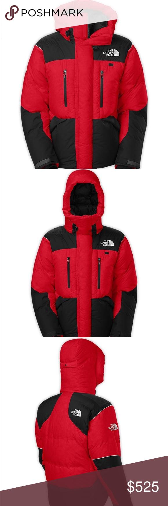 Tnf Men S Himalayan Parka Tnf Red Tnf Black L Parka North Face Jacket North Face Mens [ 1740 x 580 Pixel ]