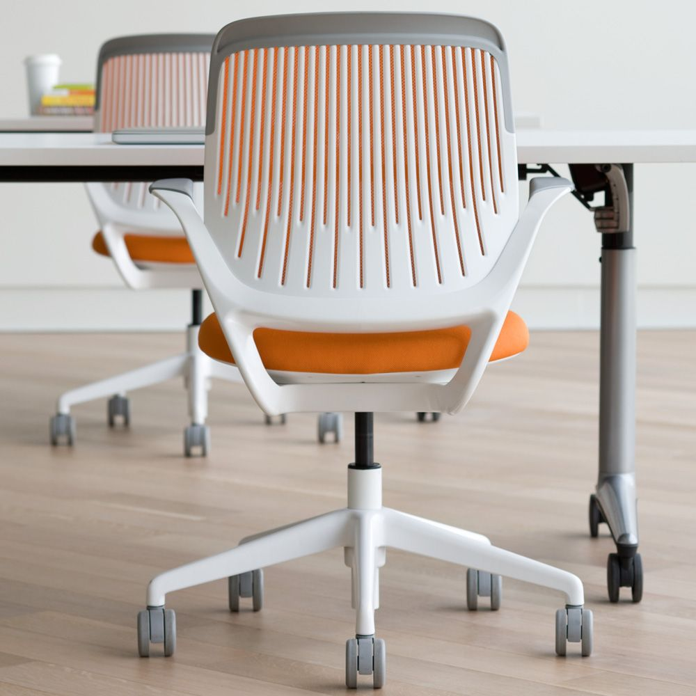 Black Cobi Desk Chair With White Frame Modern Office Furniture