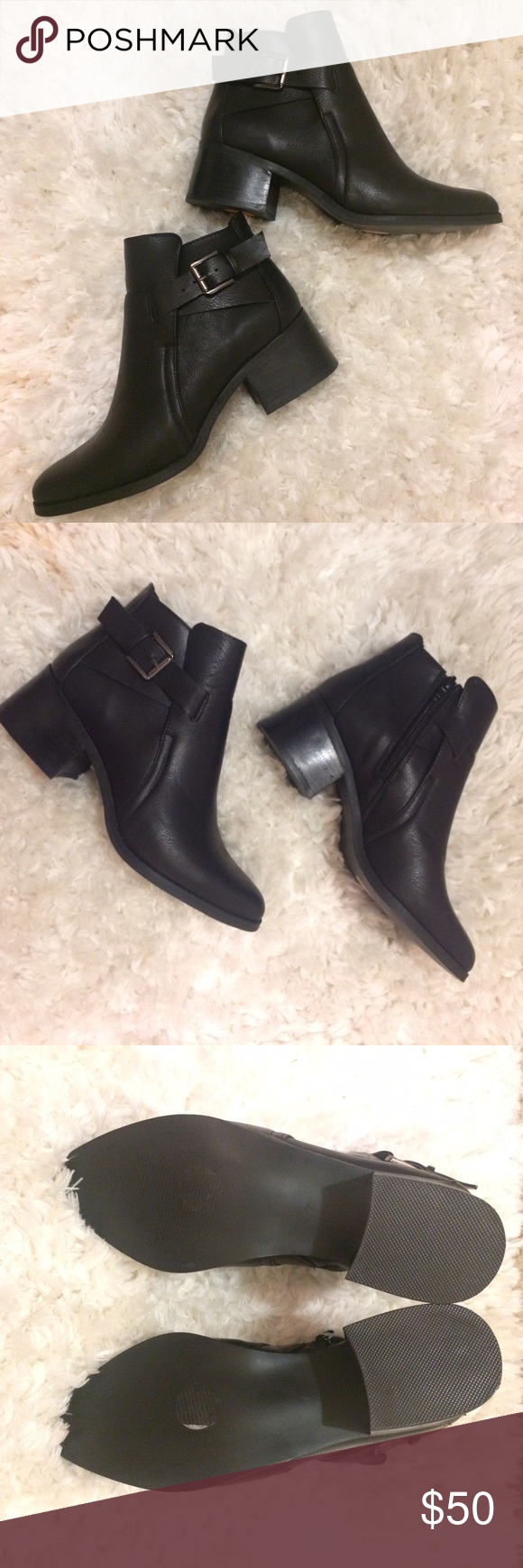 MIA Black Booties NWT MIA black ankle booties. Beautiful details with an exterior buckle, perfect pointed toe, stacked heel and zipper for easy on and off.  Retails for $130 MIA Shoes Ankle Boots & Booties