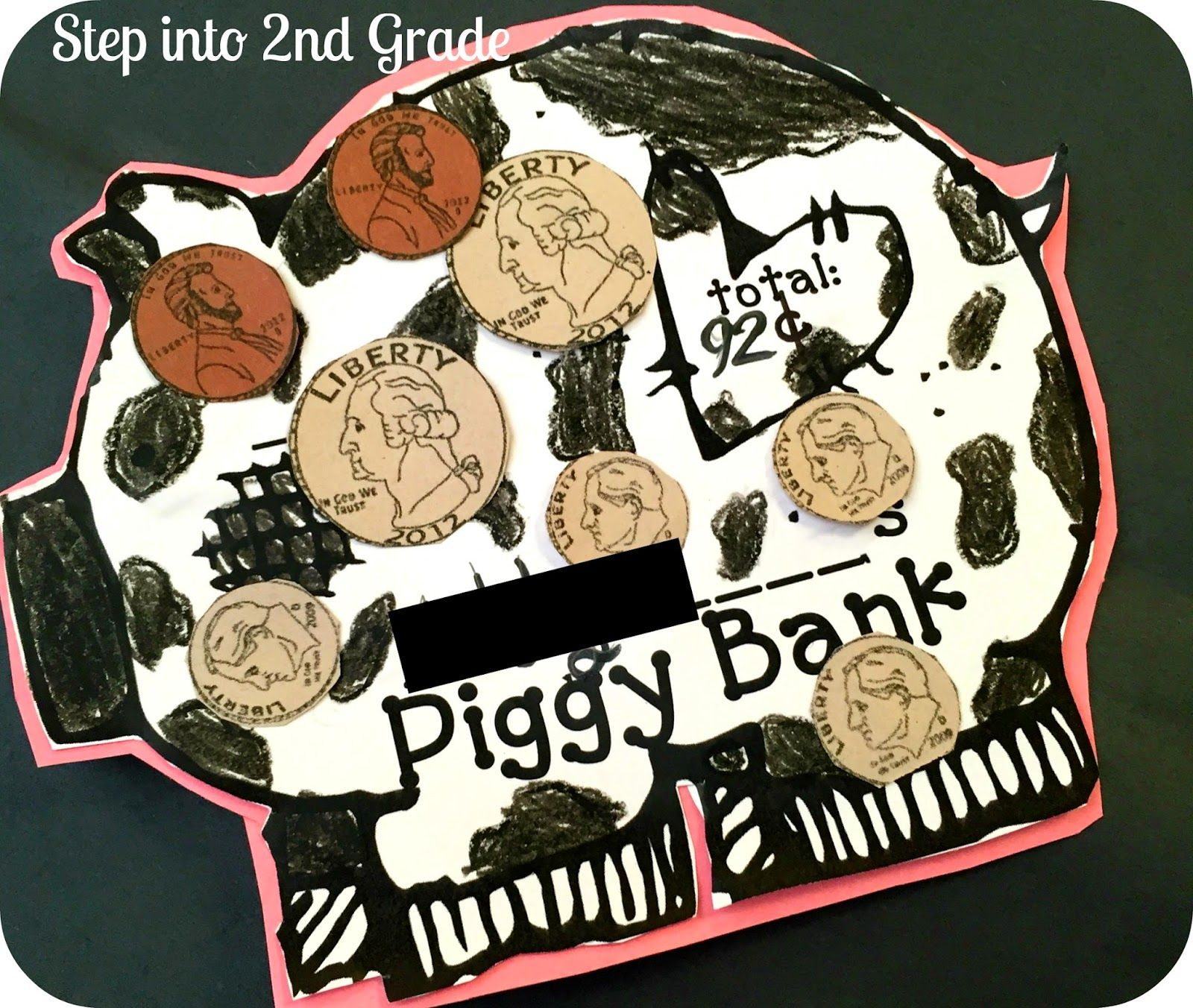 Counting Coins Piggy Bank Freebie