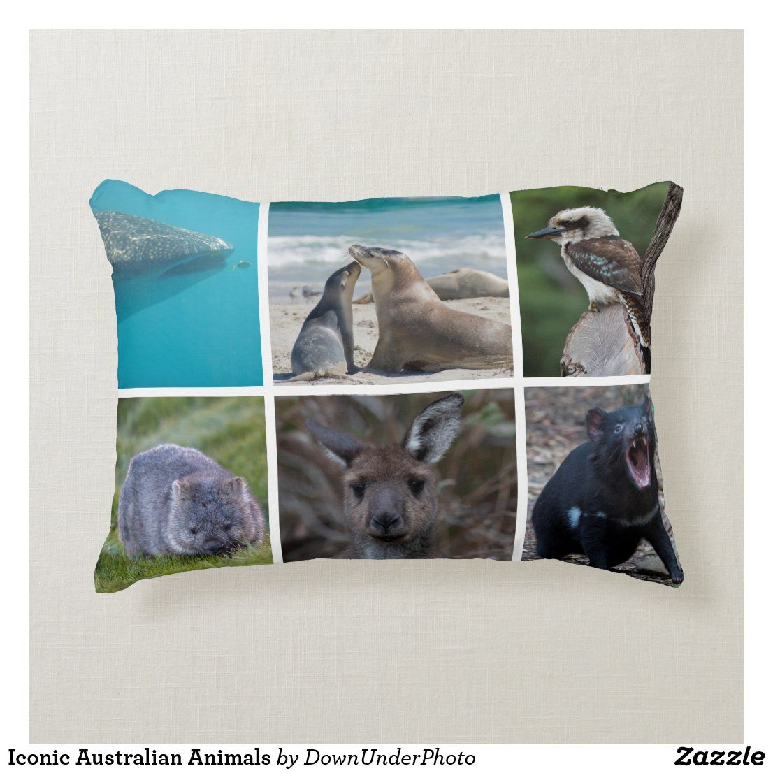 Iconic australian animals decorative cushion