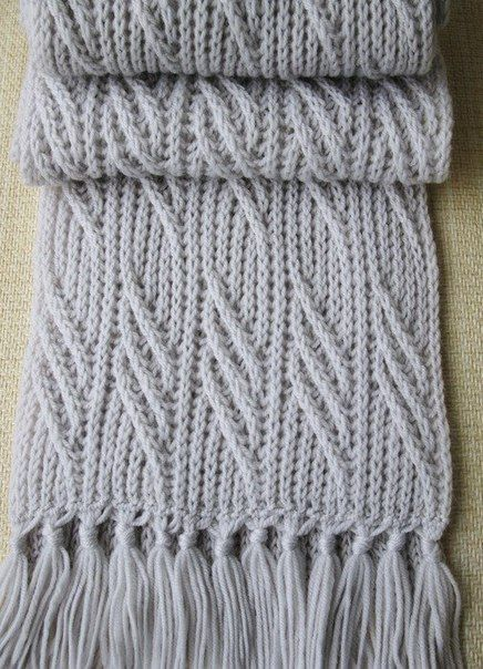 мужской шарф спицами спицы красивые узоры вязание мужское