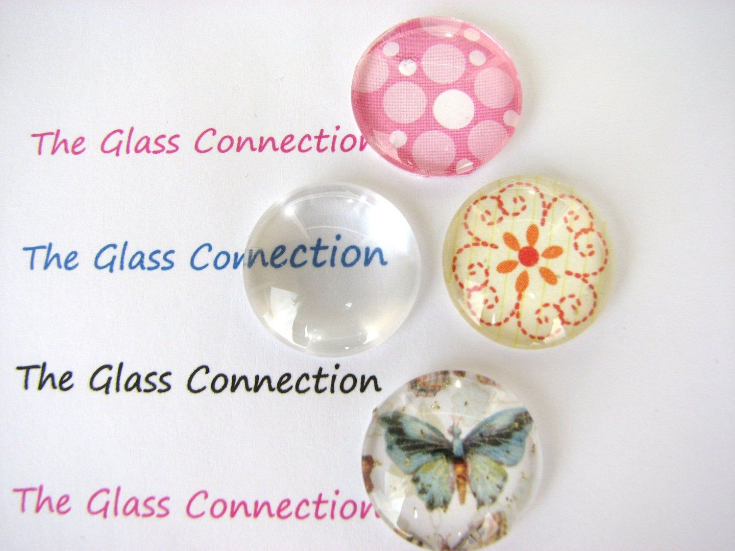 Image glass cabochon,Glass cabochons Cabs cabochons,Illustration cabochon Butterfly pattern cabochons Handmade photo glass cabs round