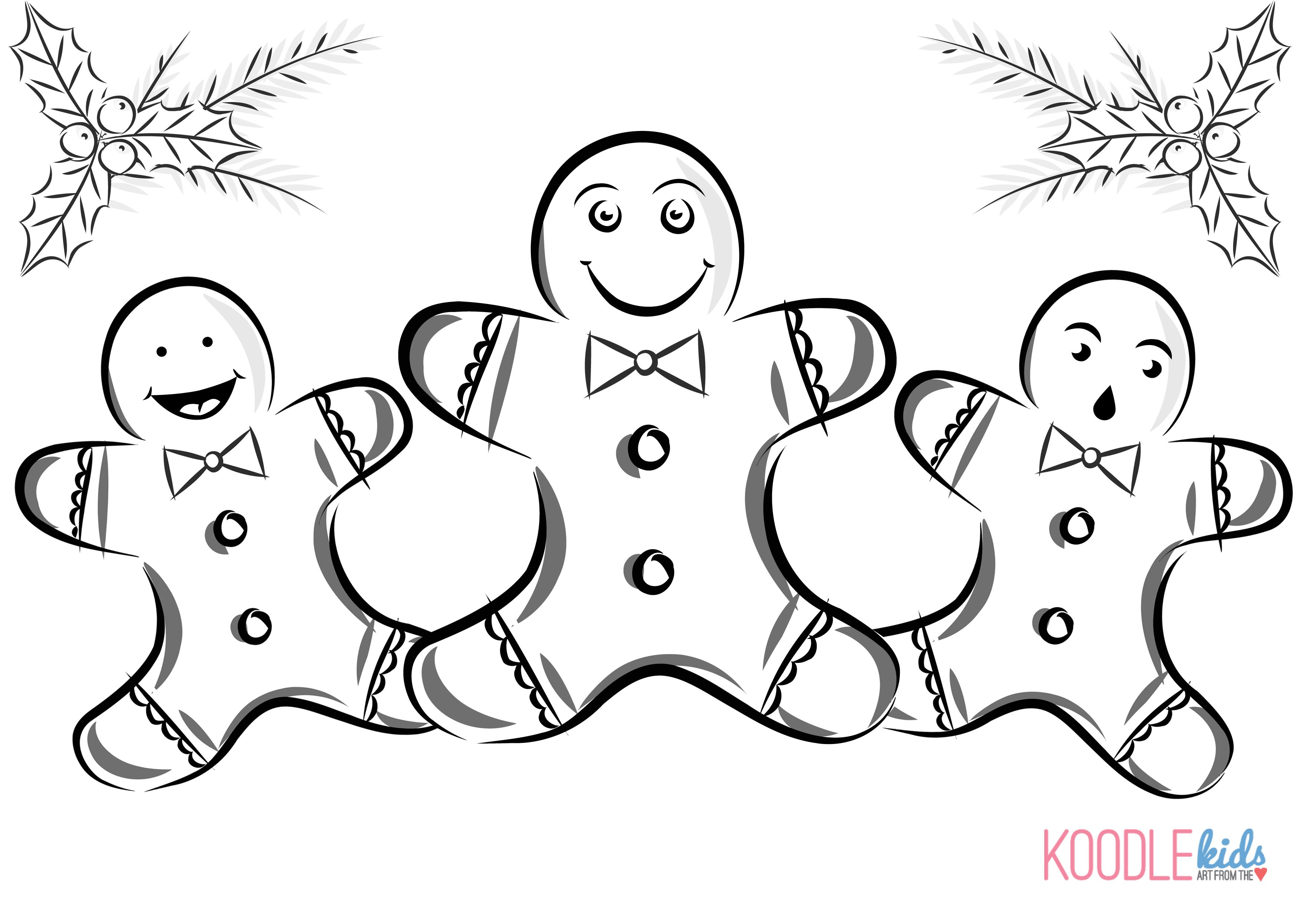 Christmas Gingerbread Man Clip Art Pictures And Coloring