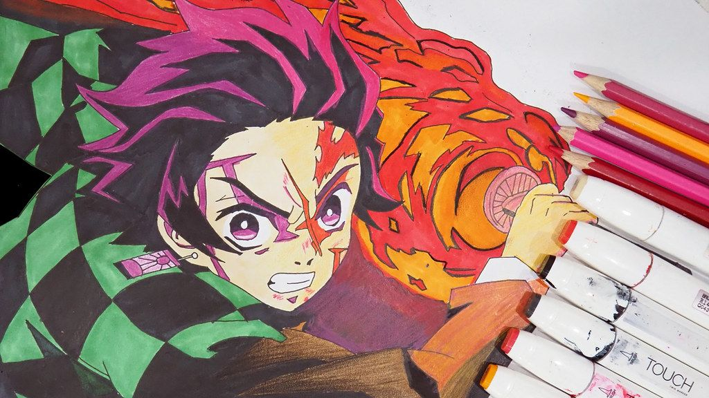 How to draw tanjiro kamado kimetsu no yaiba drawings