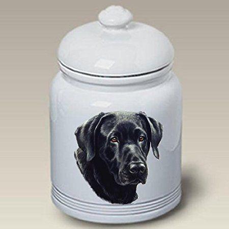 Labrador Retriever (Black) Ceramic Treat Jar 10 High