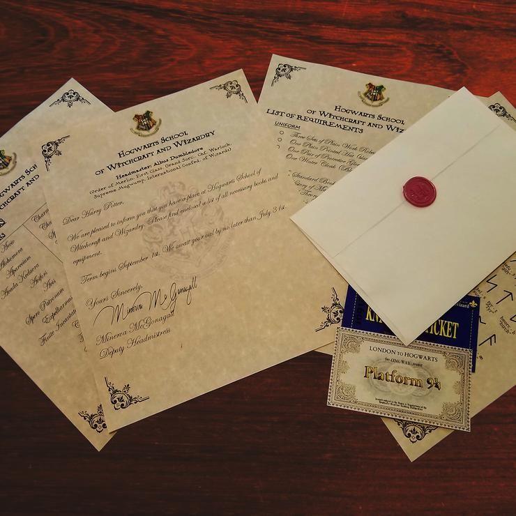 Harry Potter Personalized Hogwarts Acceptance Letter Express Ticket The Geeks B Hogwarts Acceptance Letter Harry Potter Letter Harry Potter Hogwarts Letter