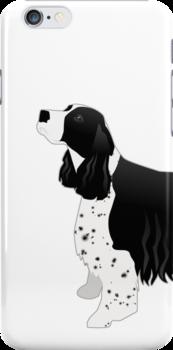 English Springer Spaniel Basic Breed Silhouette by TriPodDogDesign