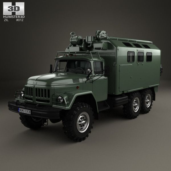 Hino 195 Hybrid Box Truck 2012 3d Model From Humster3d Com: ZiL 131 Box Truck 1966 3d Model