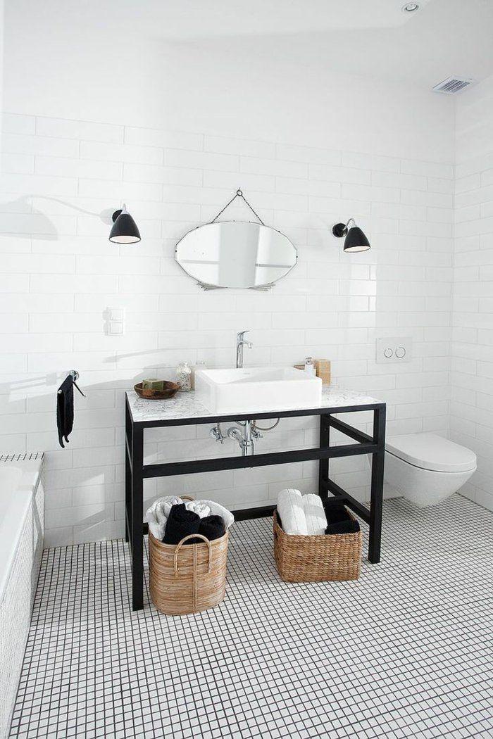 salle de bains carrelage le carrelage damier noir et blanc - Carrelage Damier Noir Et Blanc Salle De Bain